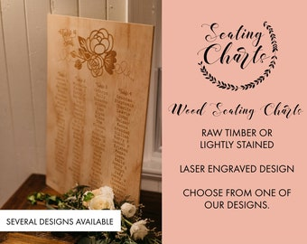 Wedding Seating Plan. Large Wedding Signs. Laser engraved wedding signs.