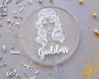 Bridal shower cake topper. Acrylic or wood cake topper. Boho bridal shower cake topper.