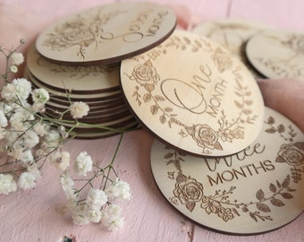 Pregnancy Milestone Cards - Baby Milestone Cards - Little Rose