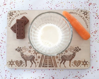 Santa's milk and cookies - Santa tray - Nordic Christmas