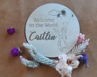 Birth announcement photo prop. Baby name announement