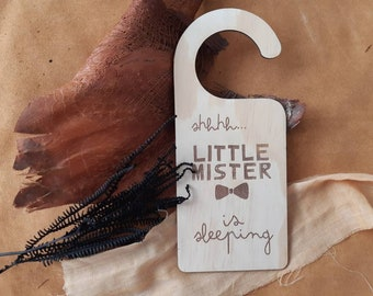 Baby is sleeping - customised - Door hanger - Little Mister