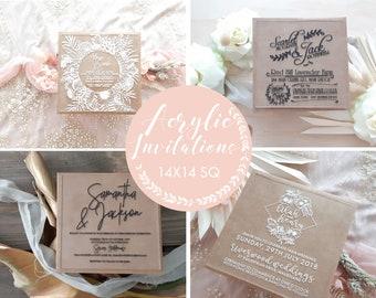 Acrylic Invitations