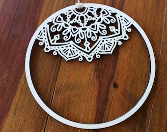 Christmas wreath. Mandala hoop