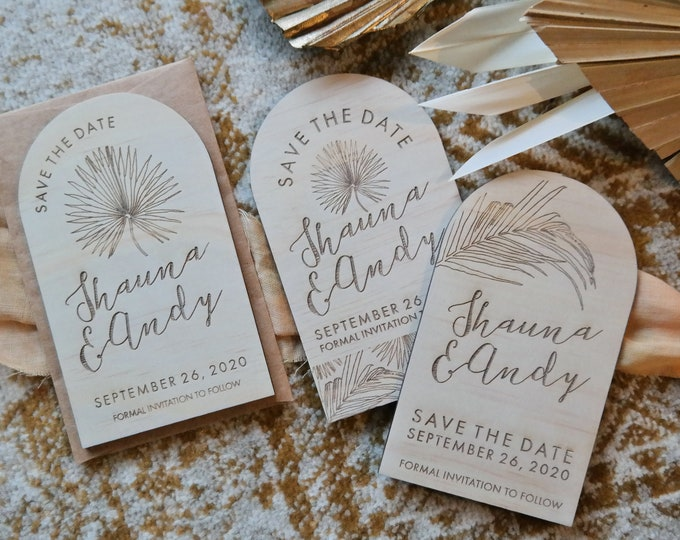 Pandanus Palm - Save the Date Cards. Set of 10