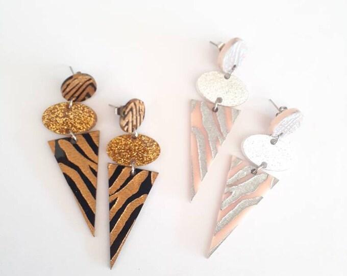 Tiger Queen - Tiger Earrings - Dangle Studs
