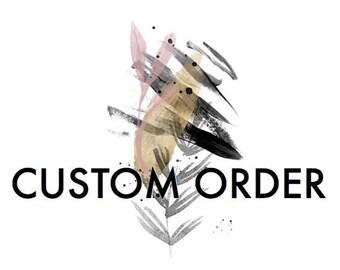 Custom order for Macie - Banana Leaf  Laser Etched Wooden Invitation. A6 size