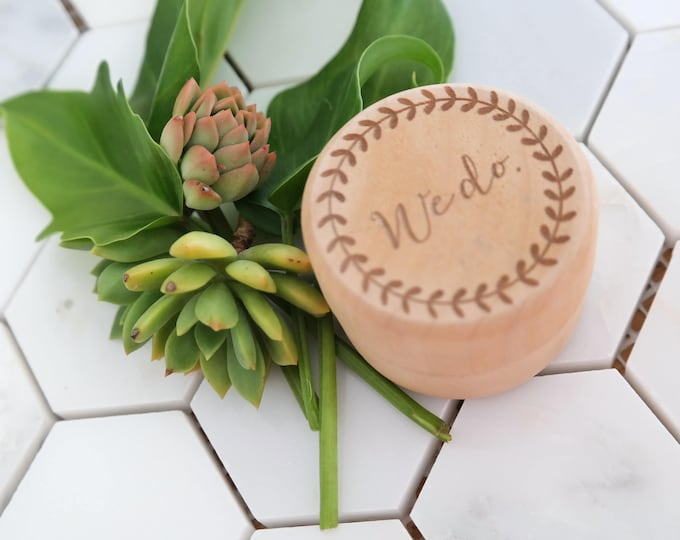 Wedding Ring Box - Wooden engraved ring box