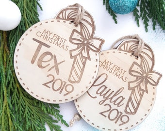 My first Christmas - Personalised Christmas decorations. Christmas Traditions