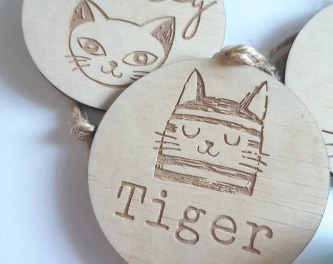 Cat baubles.  Christmas decorations. Christmas cats