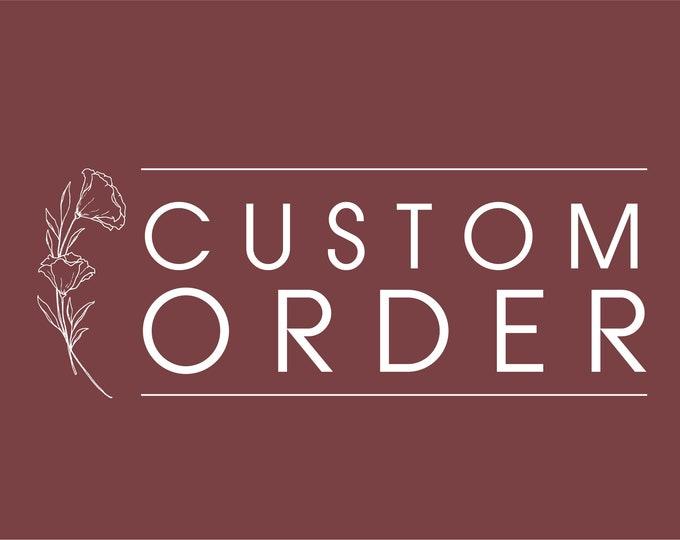 Custom order signage - Emily Bruce