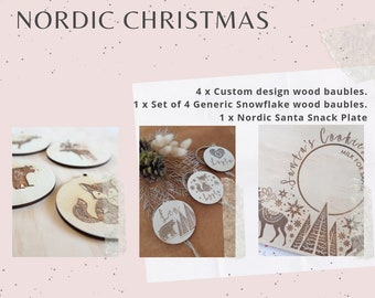 Nordic Christmas decorations Package.