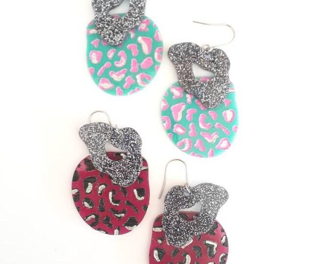Tiger Queen - Leopard Print Earrings - Dangle