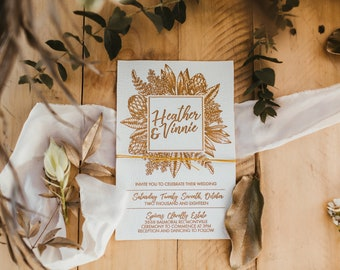 Leather Invitations