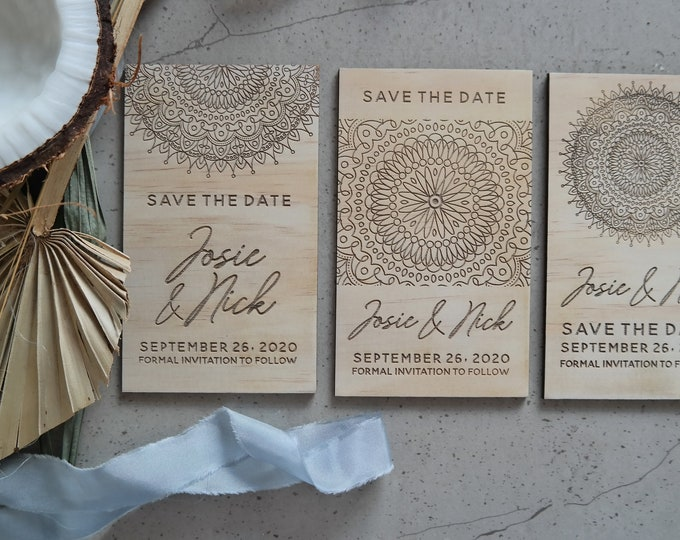 Mandala Save the Date Cards - Set of 10
