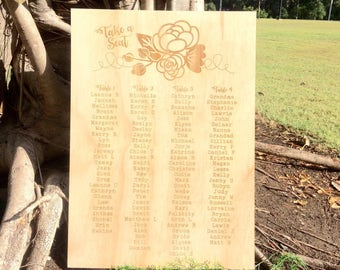 Wedding Seating Plan. Large Wedding Signs. Laser engraved wedding signs.