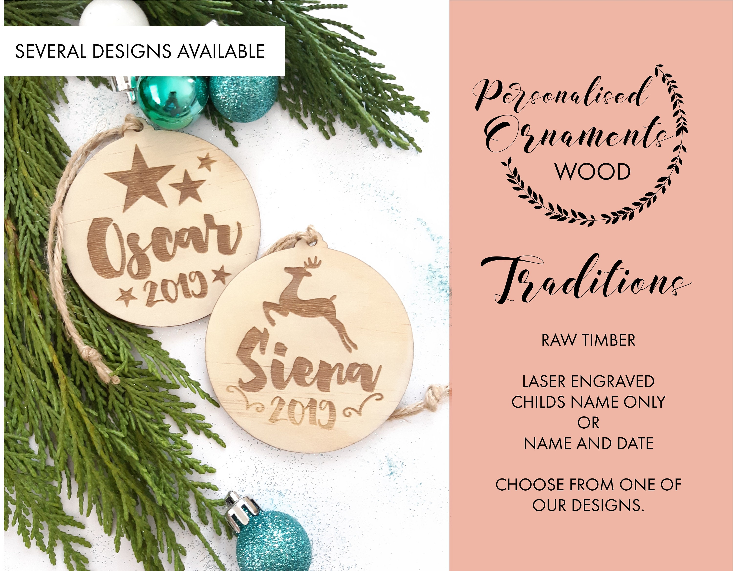 Personalised Christmas Decorations Christmas Baubles