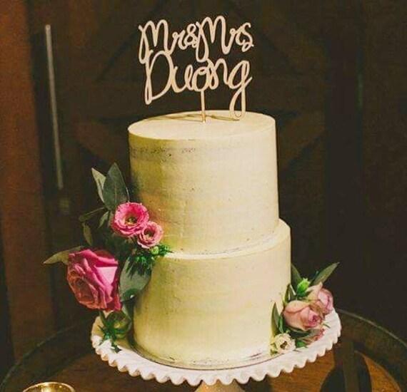 Wedding Cake topper LARGE Personalised Mr and Mrs wood | Etsy