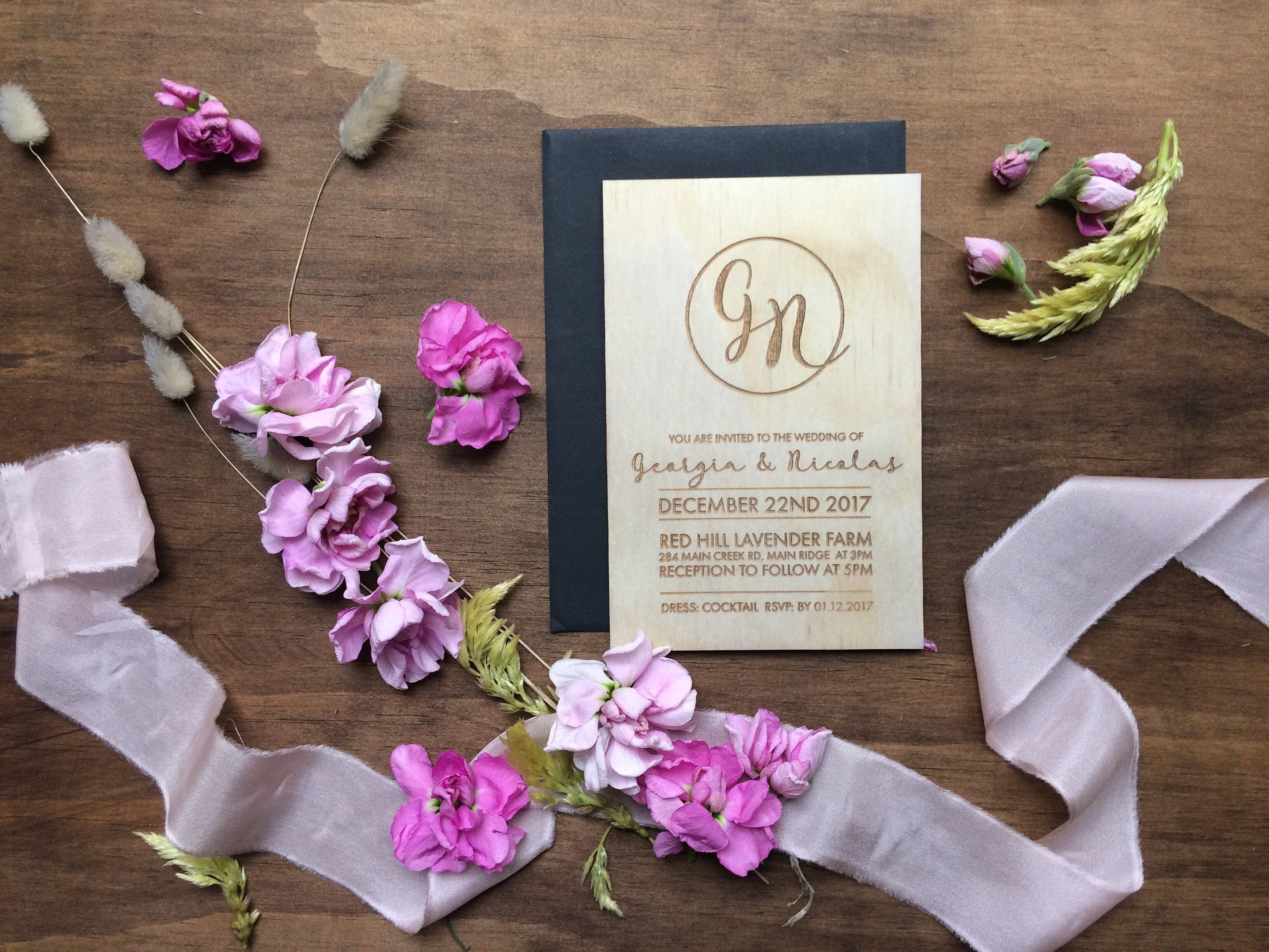 What To Include In A Wedding Invitation Pack: Wedding Invitation. Laser Engraved Modern Wedding Invites