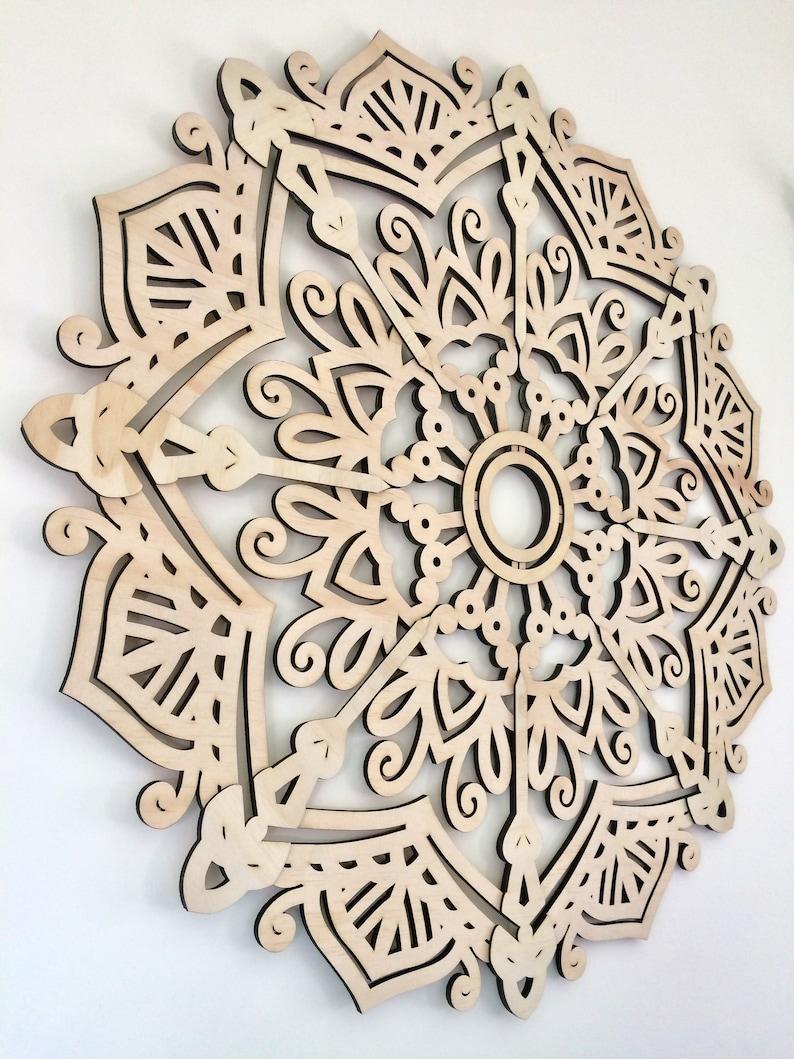 Mandala Wall Art Laser Cut Wood Mandala 60cm