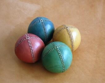 Set of 4 leather juggling balls, Juggling Set, Leather balls, Juggling Balls, Leather juggling balls, Gift for juggler, Professional juggler