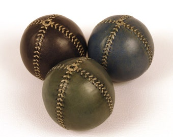 Set of 3 leather juggling balls, 75mm diameter, Juggling set, Juggling balls, Games, Toys, Learn to juggling, Juggler, Circus