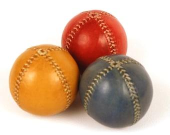 Juggling Balls, Set 3 Leather Juggling Balls, 75m, Juggling Set, Games, Toys, Learn to Juggling, Gift for Juggler, Circus, Leather Balls