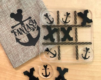 Acrylic Tic Tac Toe Mickey anchor game-Disney Cruise Line-DCL- FE - Fish Extender