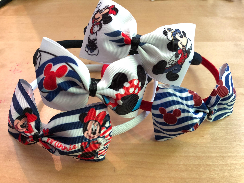 4eb37c49f80 Disney Cruise Line inspired Bow headband-Minnie Mouse Bow