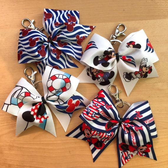 Disney Cruise Line inspired Bow Keychain-Minnie Mouse Bow  0246c160e81f
