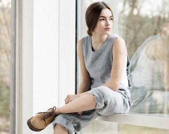 Loose Linen jumpsuit / linen romper / linen overall
