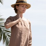 Linen dress JANUARY / Washed linen tunic / available in 37 colors