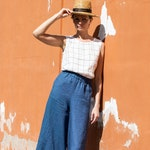Linen culottes WELS in MAXI length / Linen wide leg WELS maxi pants / maxi skirt -  pants available in all colors