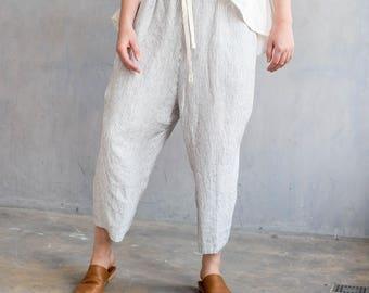 R: Wide linen pants TOKYO