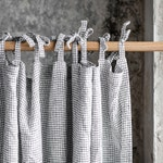 Linen CURTAIN (1 panel) in Small Checks / Washed linen curtains / linen drapes in small checks / drape for relaxed look