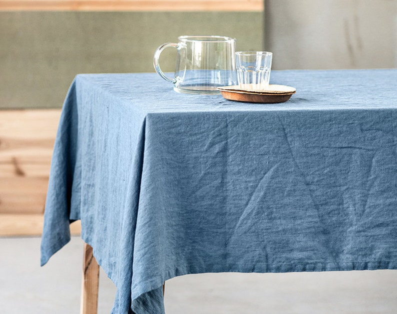Washed linen tablecloth / Handmade linen tablecloth image 0