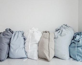 Large linen laundry bag