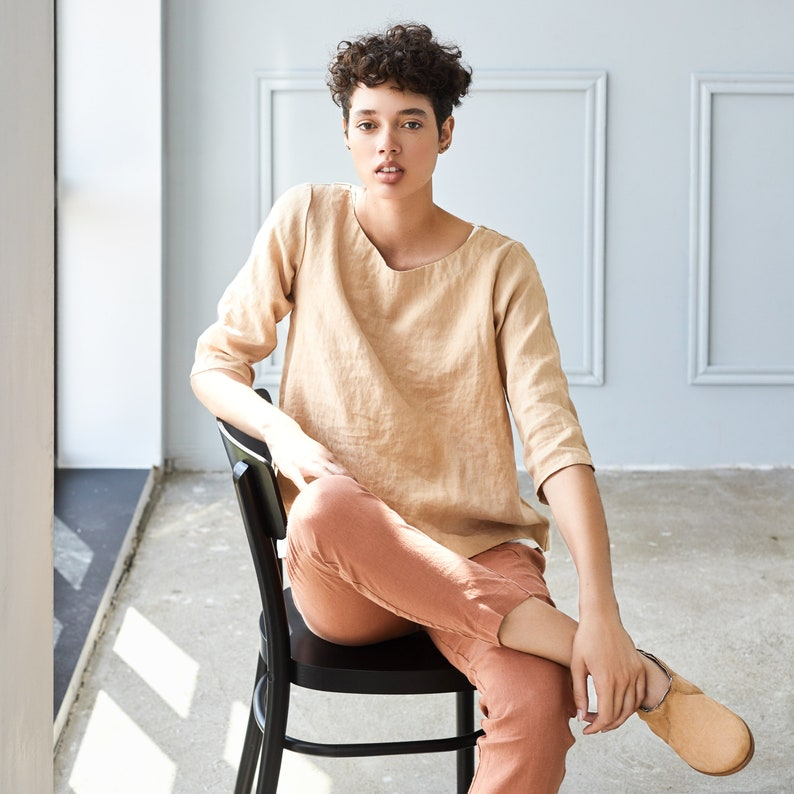 Loose linen top JANUARY image 0