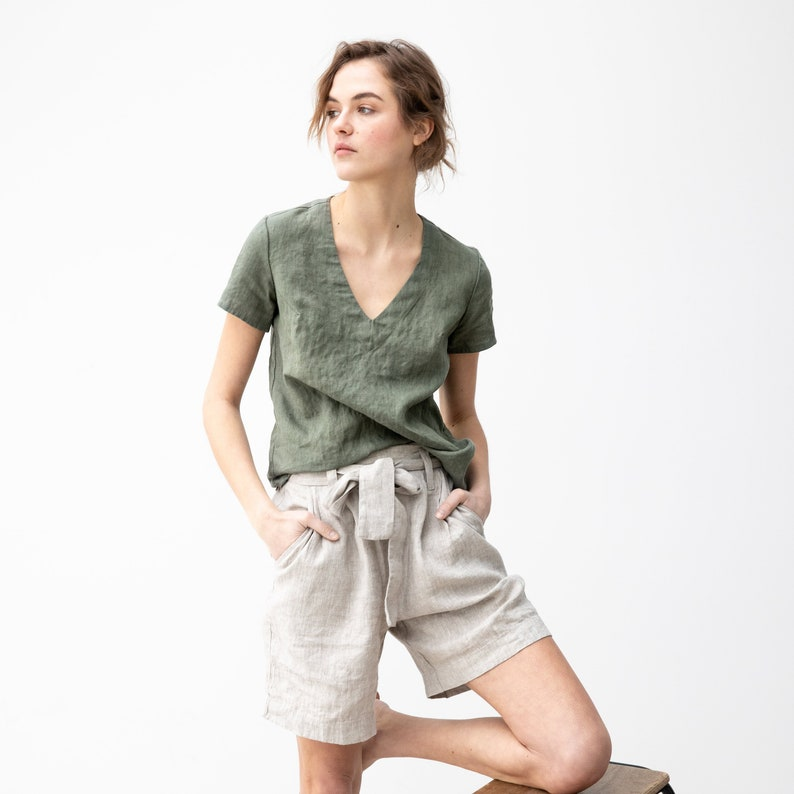 Fitted linen tee ZURICH  image 0
