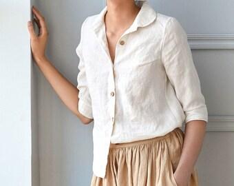 Linen collar shirt LILLE