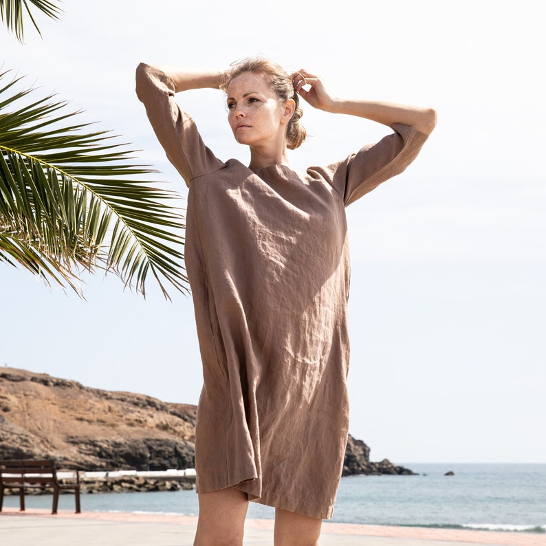 Linen dress JANUARY / Washed linen tunic / available in 37 image 0