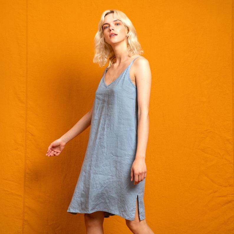 Linen slip dress LANGLEY image 0