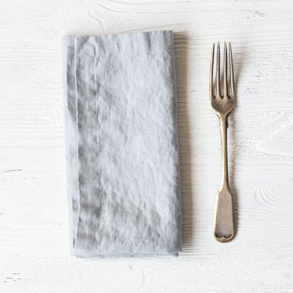 Set Of FOUR~Handmade dinner Napkins~IvoryMetallic silver~FloralToileTable Linen