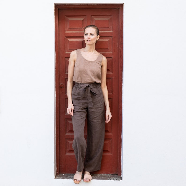 Linen pants GHENT / available in all colors image 0