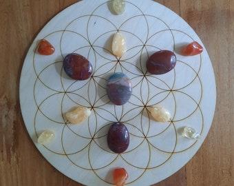 Crystal Grid 'More Energy' ~  Flower of Life