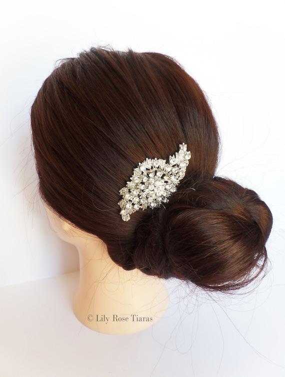 Bridal Hair Wedding Comb Diamante Crystal Vintage Slide Clip Tiara Just For