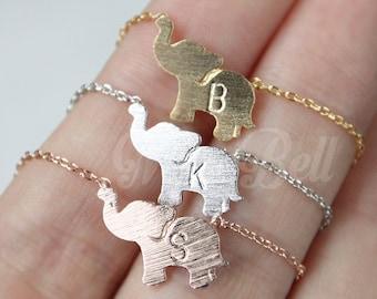 Personalized elephant necklace, Elephant jewelry, Christmas gift necklace, Animal necklace, Animal jewelry, Personalized BFF necklace,