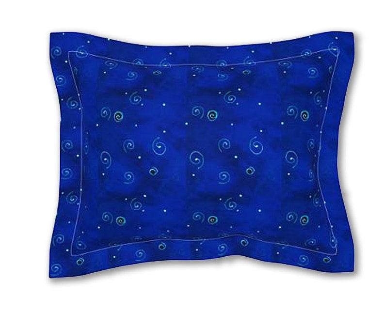 Wizard Wand Navy Blue Pillow Sham Designer Bedroom Linens