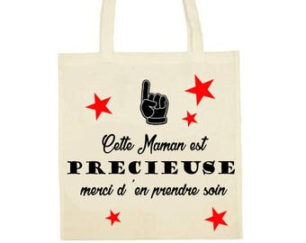 "Tote bag 100% cotton ""Precious mother"""