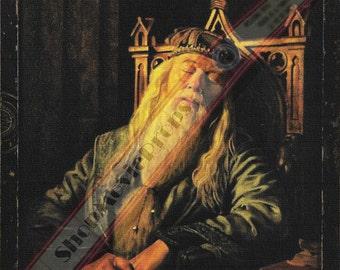 Art prints (Albus dumbledore sleeping) harry potter 6 the Half-Blood Prince